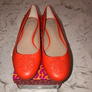 8c102966d6bf Tory Burch Shoes - NWT Tory Burch Poppy Red Melinda Flats Size 10